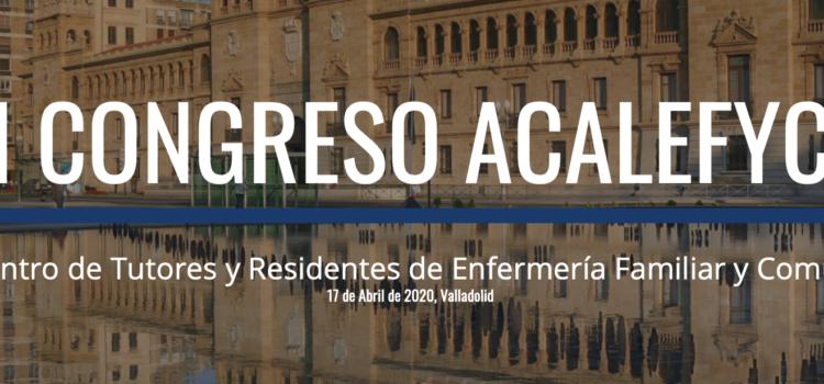 I Congreso Asociación Castellano Leonesa de Enfermería Familiar y Comunitaria viernes 17 de abril de 2020 en Valladolid (POSPUESTO PANDEMIA)